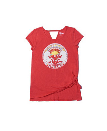 Big Girls Short Sleeve Knot Front Graphic Tee Epic Threads