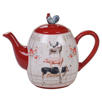 Farmhouse Teapot Certified International