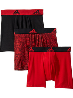 Спортивное исполнение Climalite Графический 3-Pack Boxer Brief (Big Kids) Adidas Kids