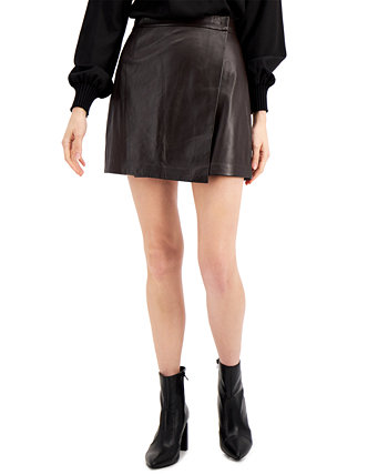 Abri Leather Mini Skirt French Connection
