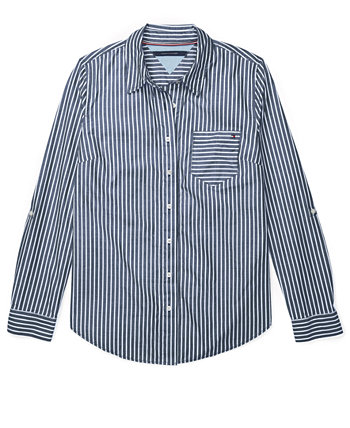 Striped Adaptive Button-Front Shirt Tommy Hilfiger
