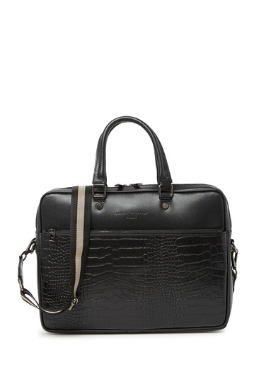 Leather Croc-Embossed Document Holder Briefcase Maison Heritage