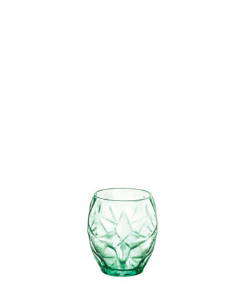Oriente Double Old Fashioned 17 oz. Cool Green Glasses Set of 6 Bormioli Rocco