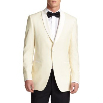 COLLECTION BY SAMUELSOHN Classic-Fit  Shawl-Collar Wool Dinner Jacket Saks Fifth Avenue