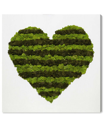 """Heart of Moss Canvas Art, 12"""" x 12"""" Oliver Gal"""