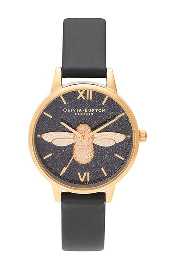 Women's Glitter Dial Eco Leather Strap Watch, 30mm OLIVIA BURTON