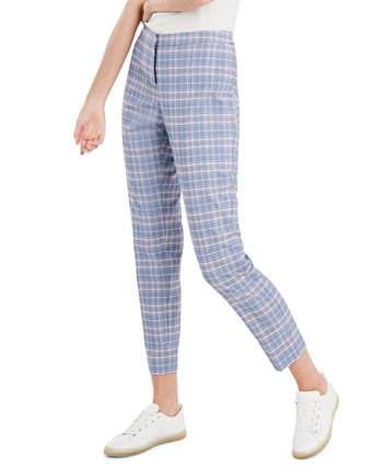 Glen Plaid Slim Trousers, Created for Macy's Riley & Rae