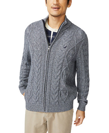 Men's Pre-Twist Cable-Knit Full-Zip Cardigan Sweater Nautica