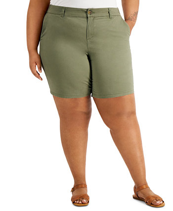 Plus Size Chino Shorts, Created for Macy's Style & Co
