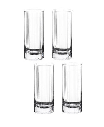 Trilogy HighBall Barware, Set of 4 Qualia Glass
