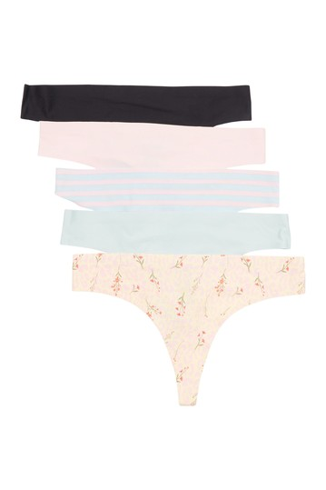 Sandra Assorted Thong - Pack of 5 Honeydew Intimates