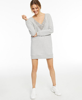 CULPOS x INC Embellished V-Neck Sweater Dress, Created for Macy's INC International Concepts
