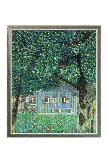 """Farmhouse in Upper Austria with Champagne Silhouette Frame , 22.4"""" x 26.4"""" No brands"""