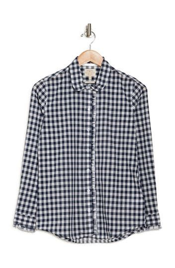 Mill Gingham Ruffle Blouse Barbour