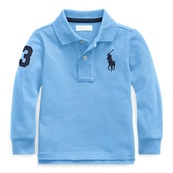 Cotton Mesh Long-Sleeve Polo Ralph Lauren