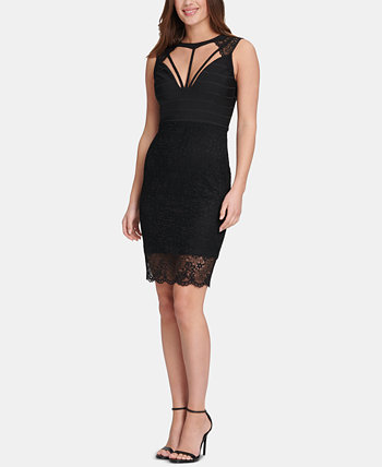 Lace Open-Back Bodycon Dress GUESS