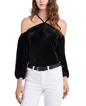 Velvet Off-The-Shoulder Top 1.STATE