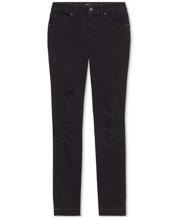 High-Rise Destructed Skinny Ankle Jeans, Created for Macy's Style & Co