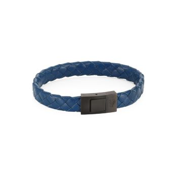 COLLECTION Woven Leather Bracelet Saks Fifth Avenue