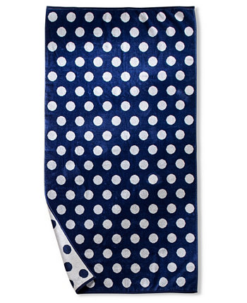Polka Dot Oversized Beach Towel, One Size Superior
