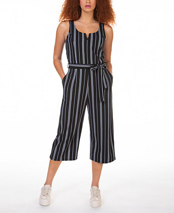 Striped Culotte Jumpsuit Black Tape