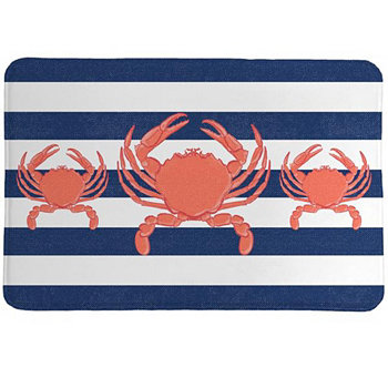 Crab Stripe Memory Foam Rug Laural Home