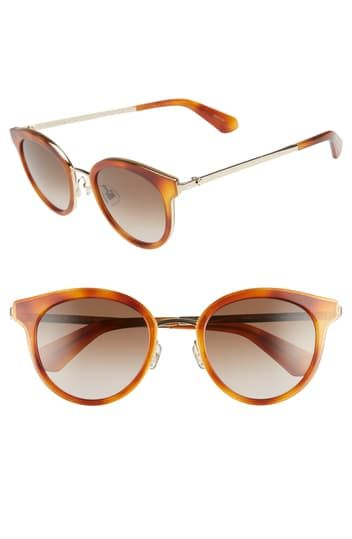 lisanne 55mm round sunglasses Kate Spade New York