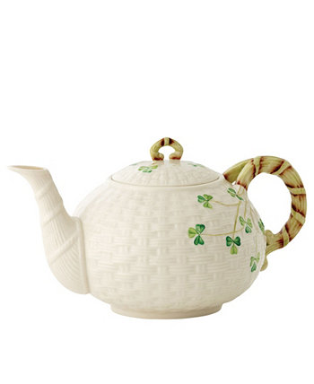 Shamrock Teapot Belleek Pottery