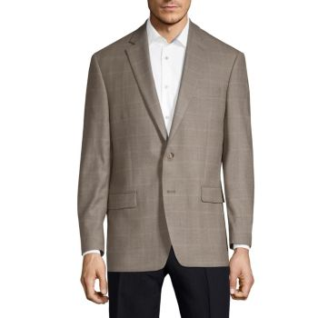 Classic Fit Silk Wool Windowpane Sport Jacket LAUREN Ralph Lauren