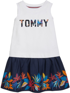Lorna Sleeveless Dress with Wide Neck Opening (Toddler/Little Kids/Big Kids) Tommy Hilfiger Adaptive