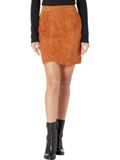 Real Suede Wrap Skirt Blank NYC