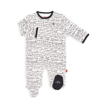 Baby's Going Places Organic Cotton Coverall MAGNETIC ME
