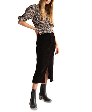 Roxy Ribbed Pencil Skirt Free People