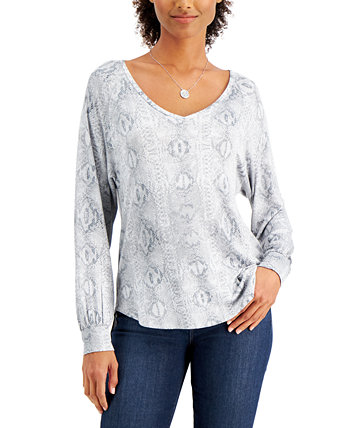 Printed Top Willow Drive
