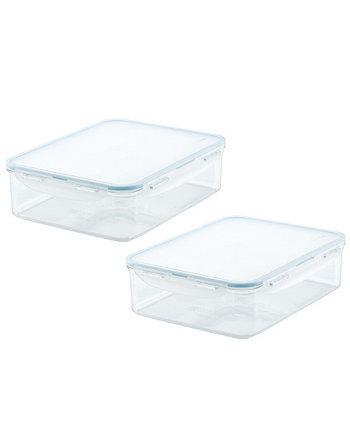 Purely Better™ Rectangular 4-Pc. Food Storage Containers, 132-Oz. Lock n Lock