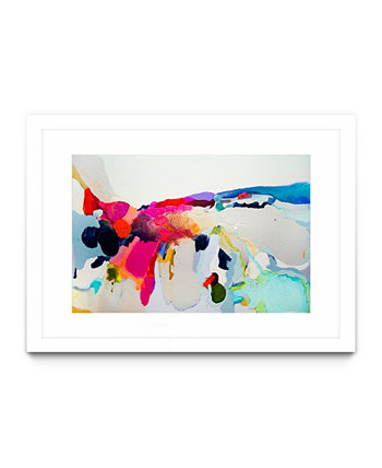 "Reach In Out Matted and Framed Art Print, 40"" x 30"" Giant Art"