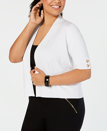 Plus Size Open-Front Cardigan, Created for Macy's J&M Collection