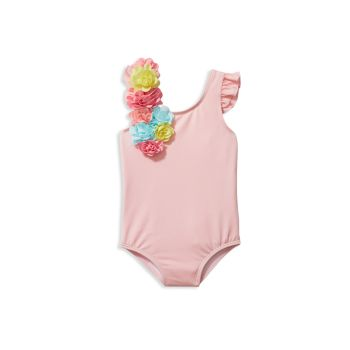 Baby's, Little Girl's and Girl's Rainbow Floral Applique One-Piece Swimsuit Janie and Jack