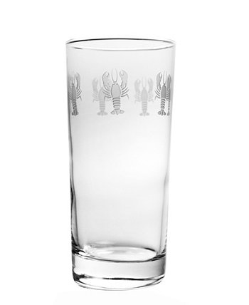 Lobster Pod Cooler Highball 15Oz - Set Of 4 Glasses Rolf Glass