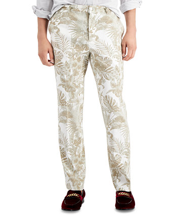 INC Men's Slim Stretch Lead Print Pants, Created for Macy's INC International Concepts