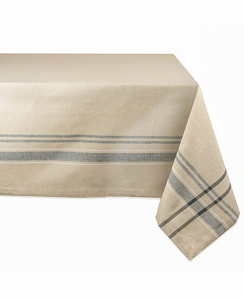 """French Stripe Tablecloth 60"""" x 104"""" Design Imports"""
