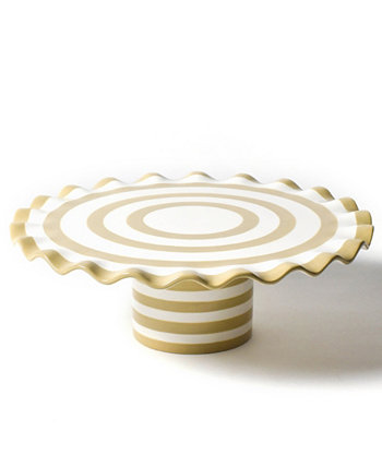 by Laura Johnson Cobble Spot On Ruffle Cake Stand Coton Colors