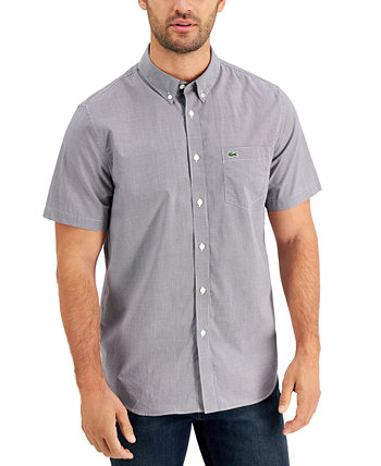 Men's Checked Gingham Shirt Lacoste