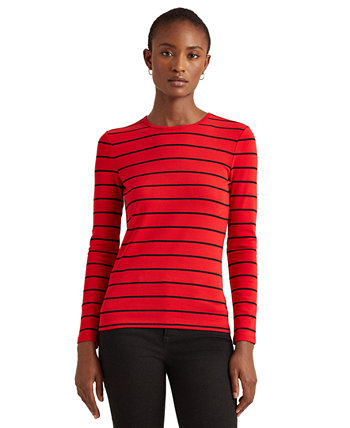 Striped Cotton-Blend Top Ralph Lauren