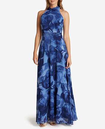 Printed Chiffon Gown Tahari by ASL
