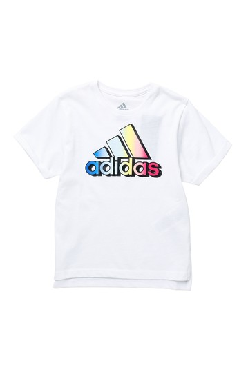 Short Sleeve Logo Tee (Toddler Girls) Adidas Originals