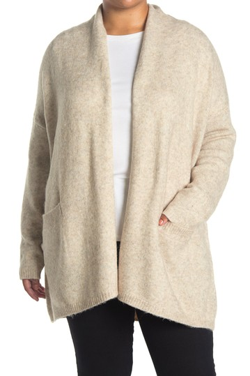 Open Front Long Cardigan (Plus Size) Max Studio