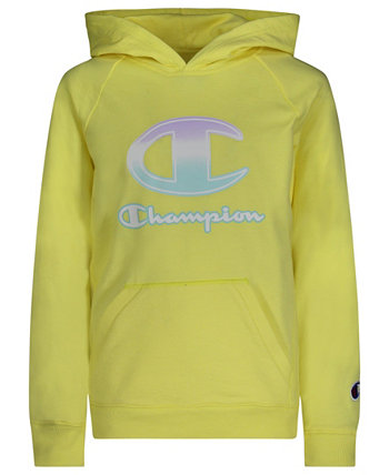Big Girls Ombre C-Script French Terry Hoodie Champion
