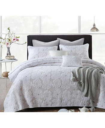 Madison Embroidered Cotton Quilt 3-Pc Set JANEEN HOME