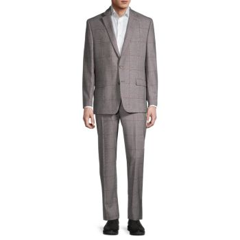 Lofton-Fit Windowpane Plaid Wool-Blend Suit LAUREN Ralph Lauren